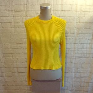 4/$30 🌷Garage | Yellow Knit Long Sleeve Sweater